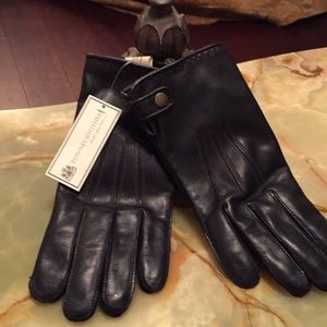 💃Sale💃Men Dark Brown like Black Leather Gloves